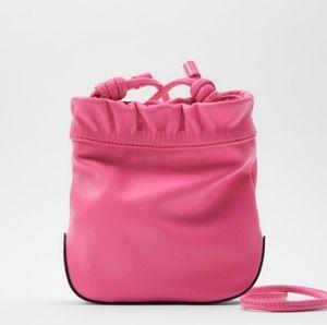 NWOT Zara Mini Bucket Bag